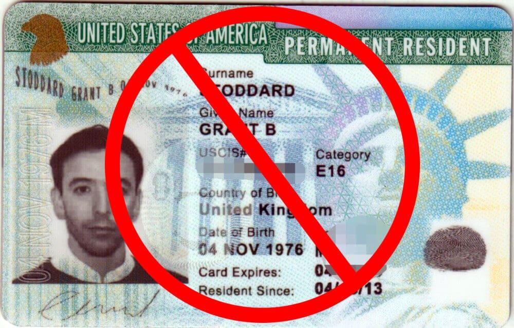 green card foto